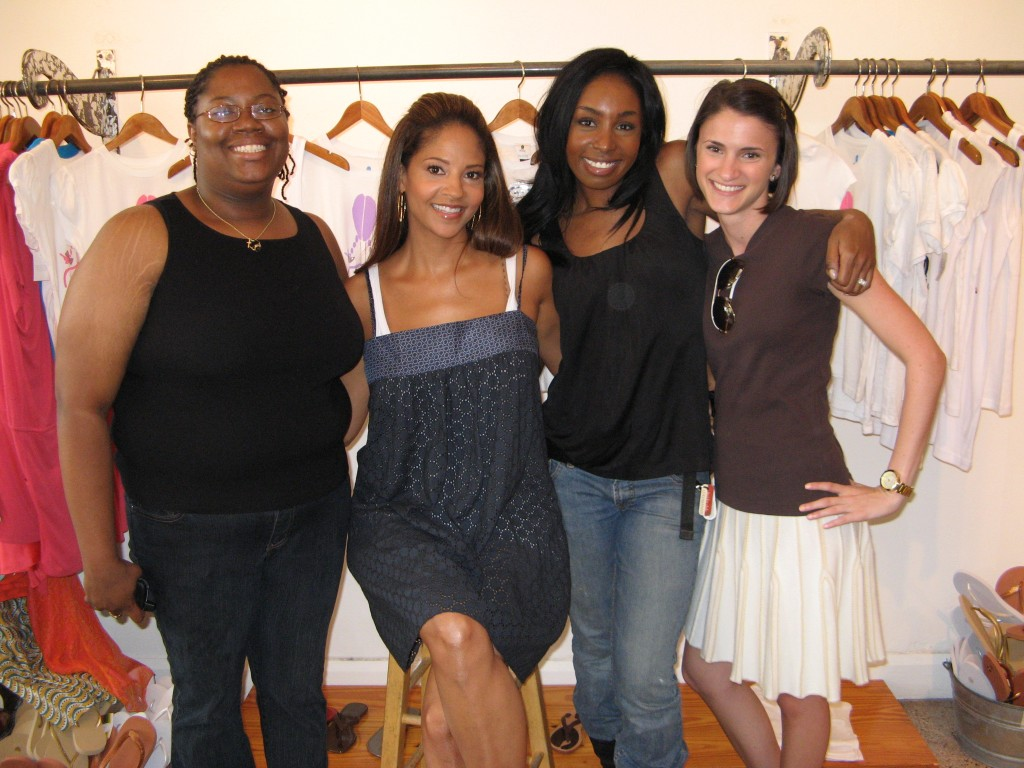 Hair and Makeup Artist Sophia Lenore working with Basket Ball Wife Tracey Mourning, wife of NBA player Alonzo Mourning'.