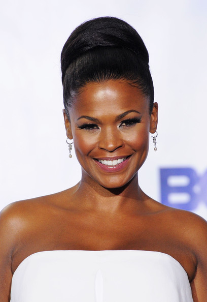 Nia Long in Tarte LipSurgence Natural Matte Lip Stain