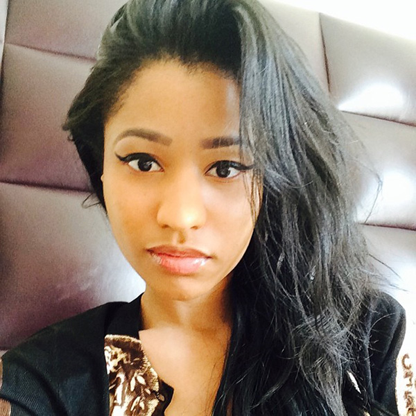 rapper Nicki Minaj without her wigs