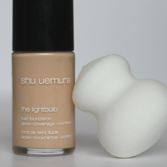 Shu Uemura Lightbulb Fluid Foundation and Sponge
