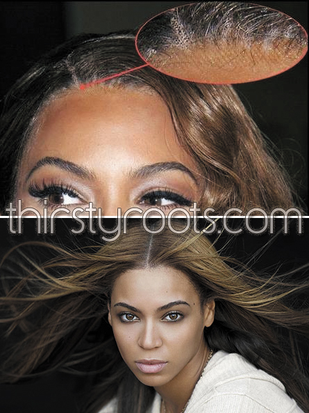 Beyonce in one of her many wigs