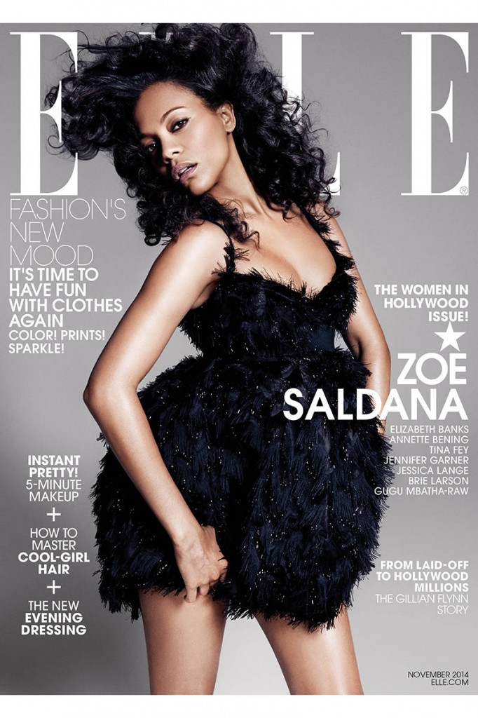 Zoe Saldana- Elle Magazine November 2014 Cover