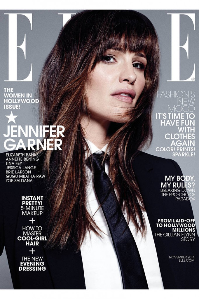 Jennifer Garner- Elle Magazine November 2014 Cover