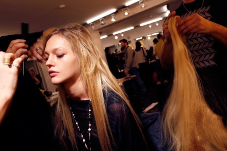 Hair extensions are always used during fashion shows