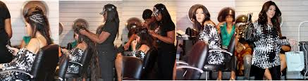 kourtney kardashian getting her extensions applied