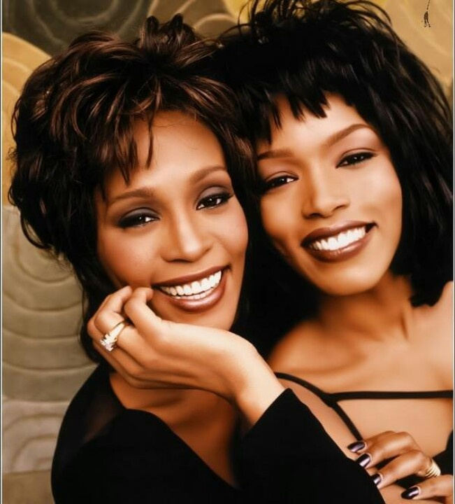 Photo of Angela Basset and the Late Whitney Houston