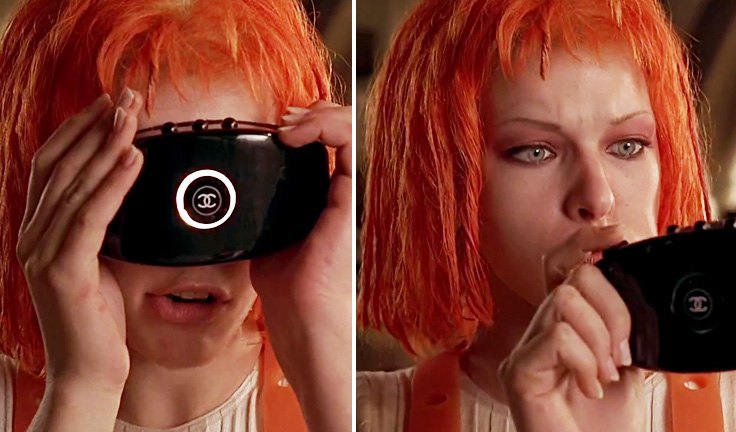 "Classic Scene Featuring Super Model Milla Jovovich In The Film ""The Fifth Element"""