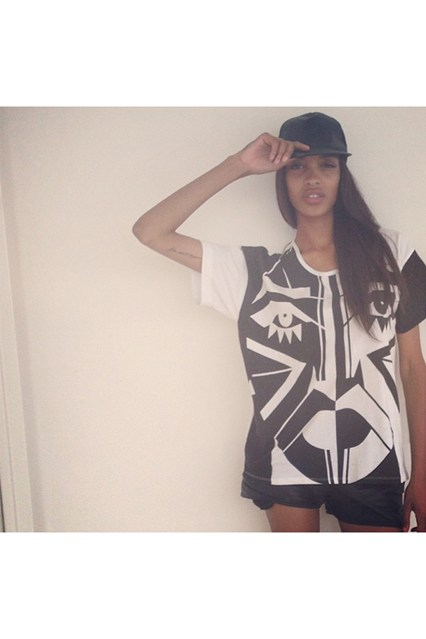Kesh's T-shirt worn by Jourdan Dunn model almost two years ago Picture credit: Jourdan Dunn / Instagram
