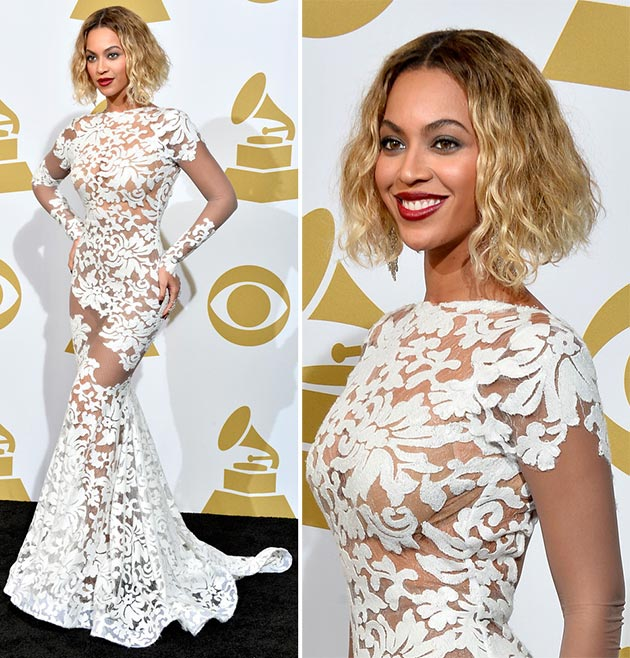 Beyonce in the mesh dress
