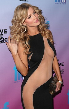 Actress Joanna Krupa in the mesh dress