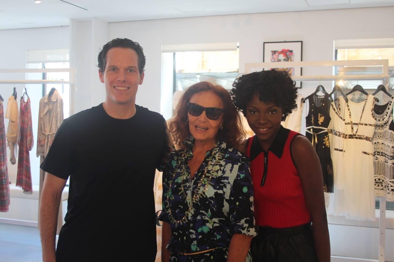 Philipp Halfmann, Abs Petit & Legendary Clothing Designer Diane Von Furstenberg.
